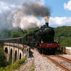 Train touristique à vapeur : Circuit d'Eymoutiers à Bugeat